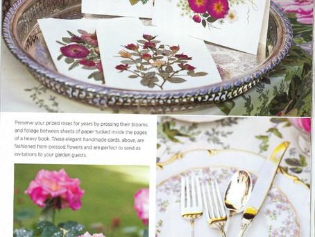 Vermont Pressed Flower cards featured in Magazine