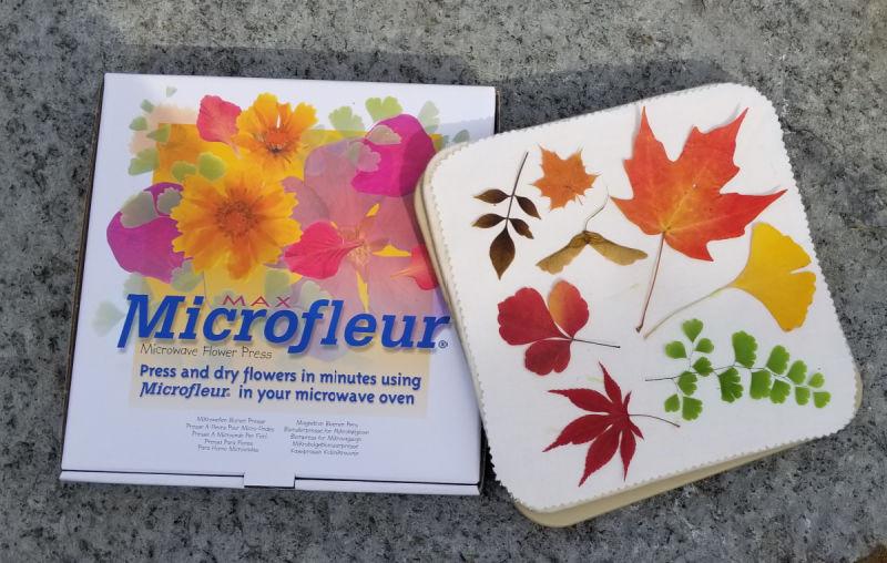 microfleur microwave flower press