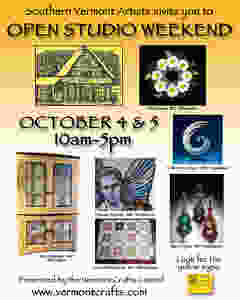 Flier for the Southern Vermont Artists Open Studio Weekend on October 4 & 5 2015