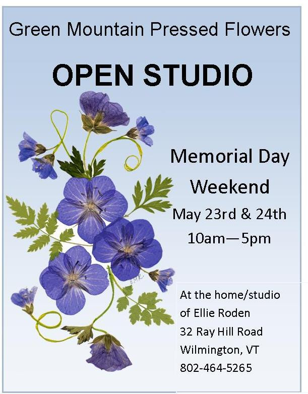 Flyer for Open Studio weekend May 23-24