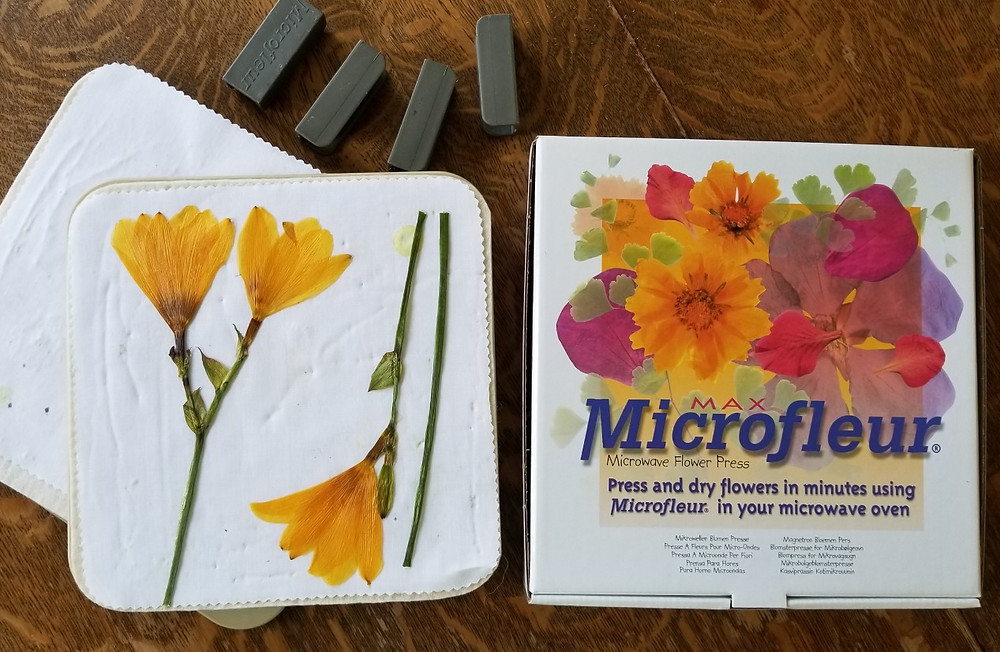 microwave flower press by Microfleur