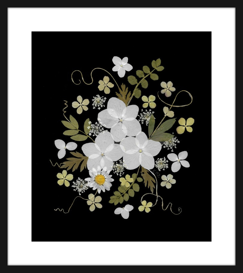 pressed flower print by Vermont Pressed Flowers