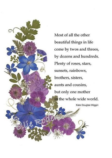 Mothers Day Pressed Flower Card