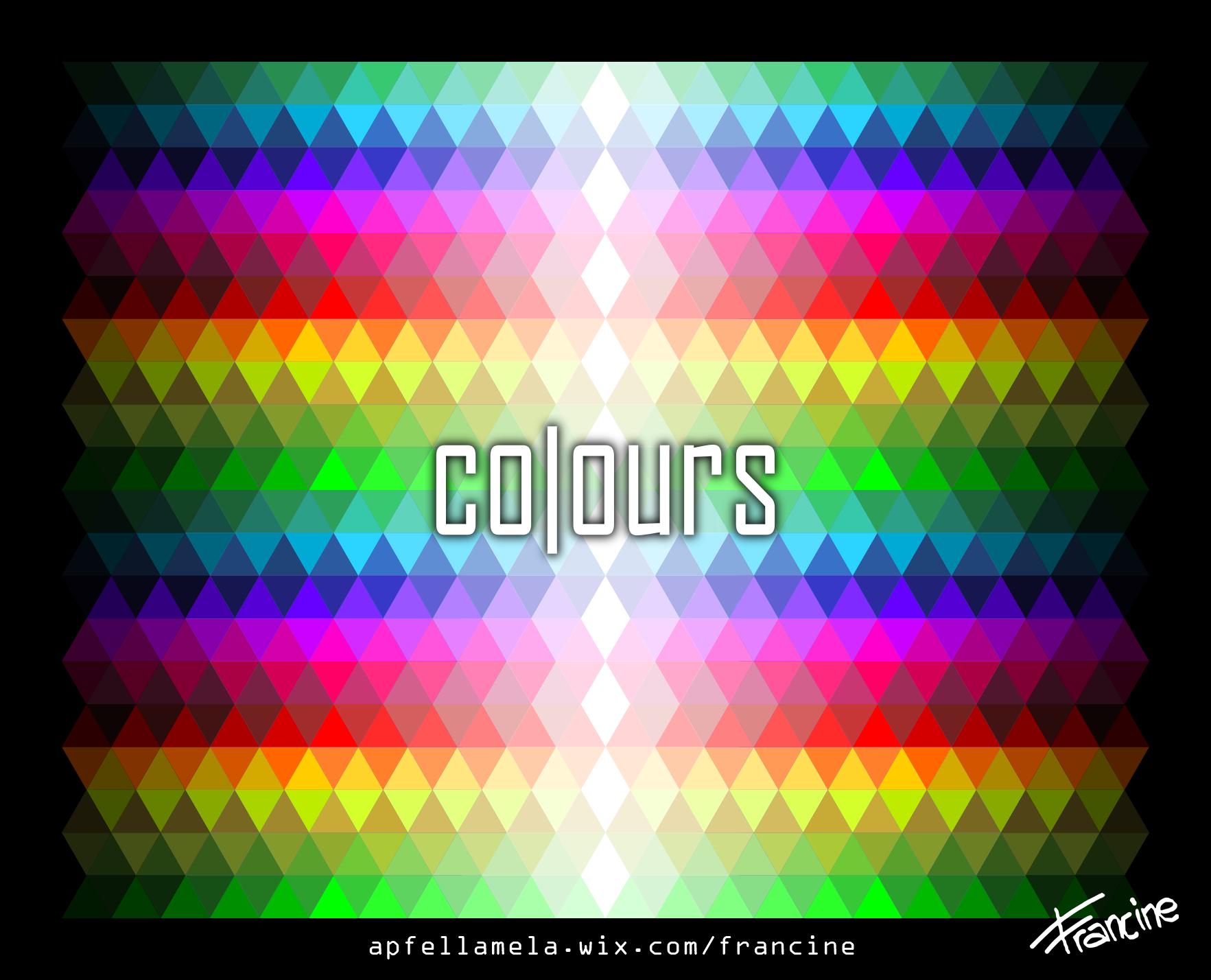 colours arcobaleno scritta