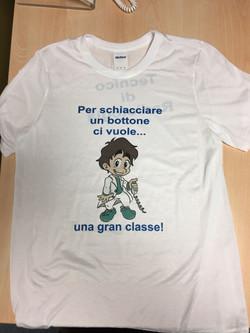 TSRM stampato su t-shirt