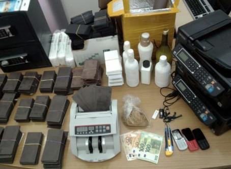 Εντοπίστηκε οργανωμένο εργαστήριο παραχάραξης χαρτονομισμάτων στα Πατήσια