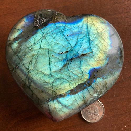 Labradorite Heart Extra Large