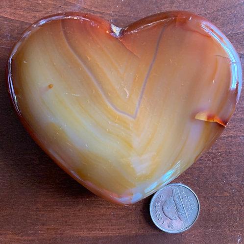 """Carnelian Heart, 3.5"""""""