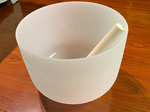 Frosted Singing Bowl 11 inch E Solar Plexus