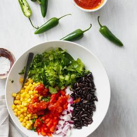 Taco-Salat im Glas