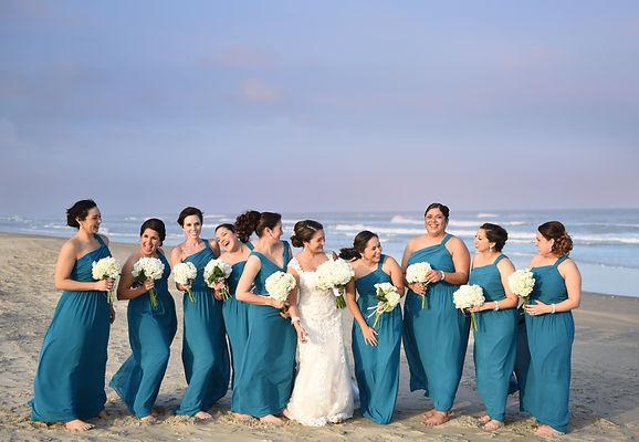 Bridesmaids and Bridal party photo shoot at  South Padre Island destination wedding