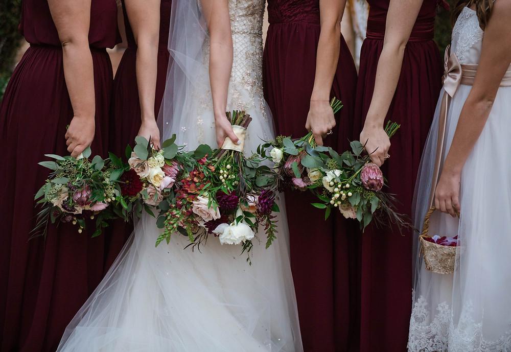 Bridesmaids flower bouquet