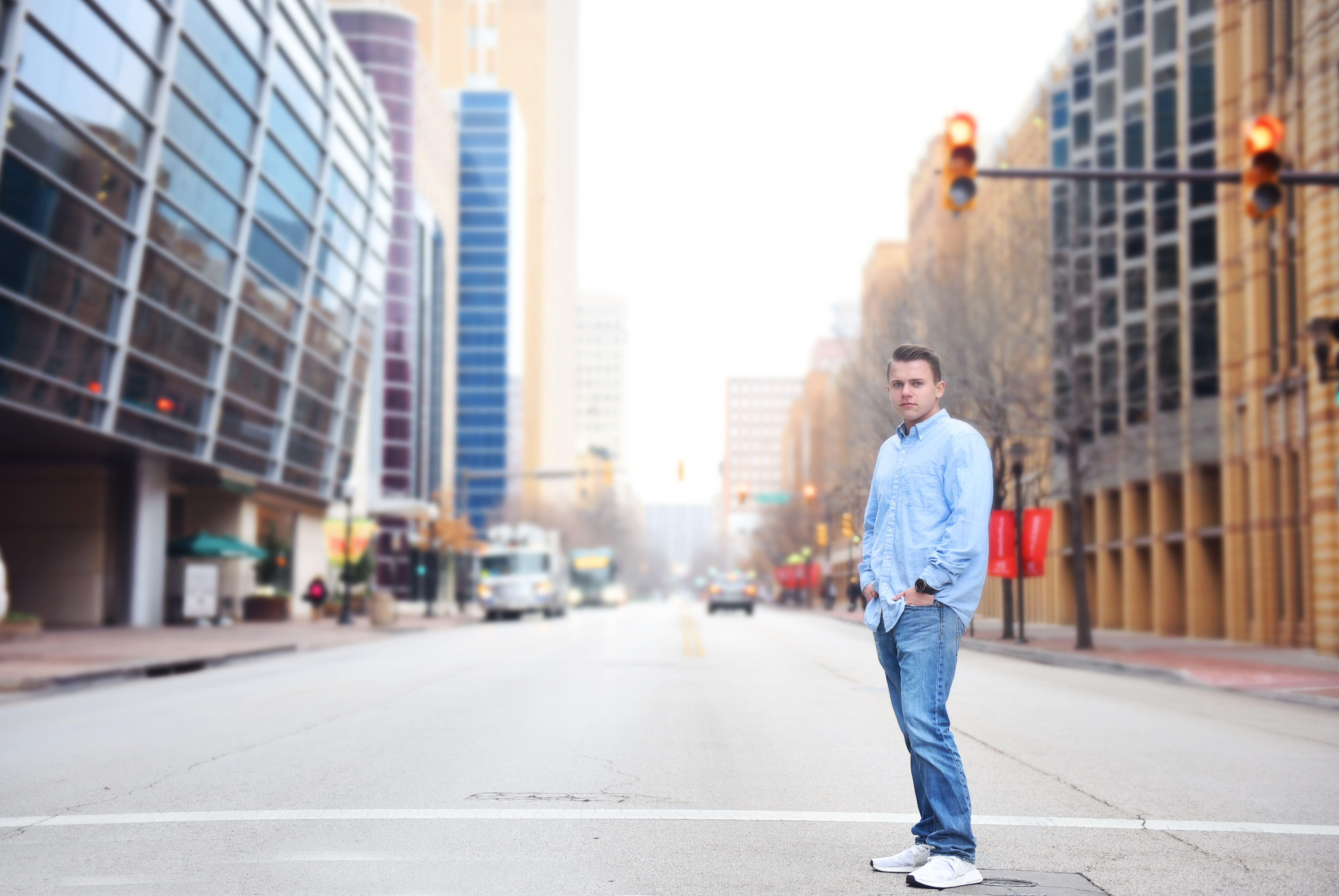 Downtown Fort Worth Senior Pictures