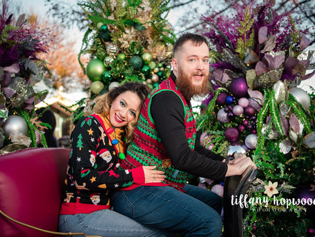 Awkward (and Hilarious) Ugly Christmas Sweater Couple's Photo Shoot