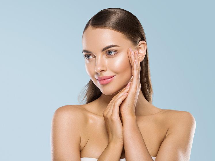 Beauty model healthy skin hand manicure