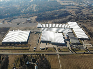 Aerial View of Green Valley Greenhouse