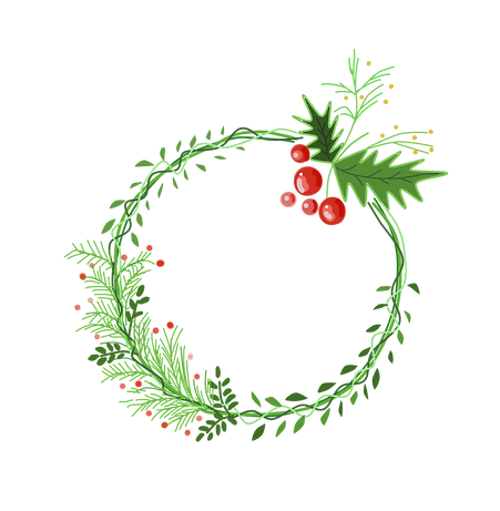 —Pngtree—christmas day hand drawn wreath