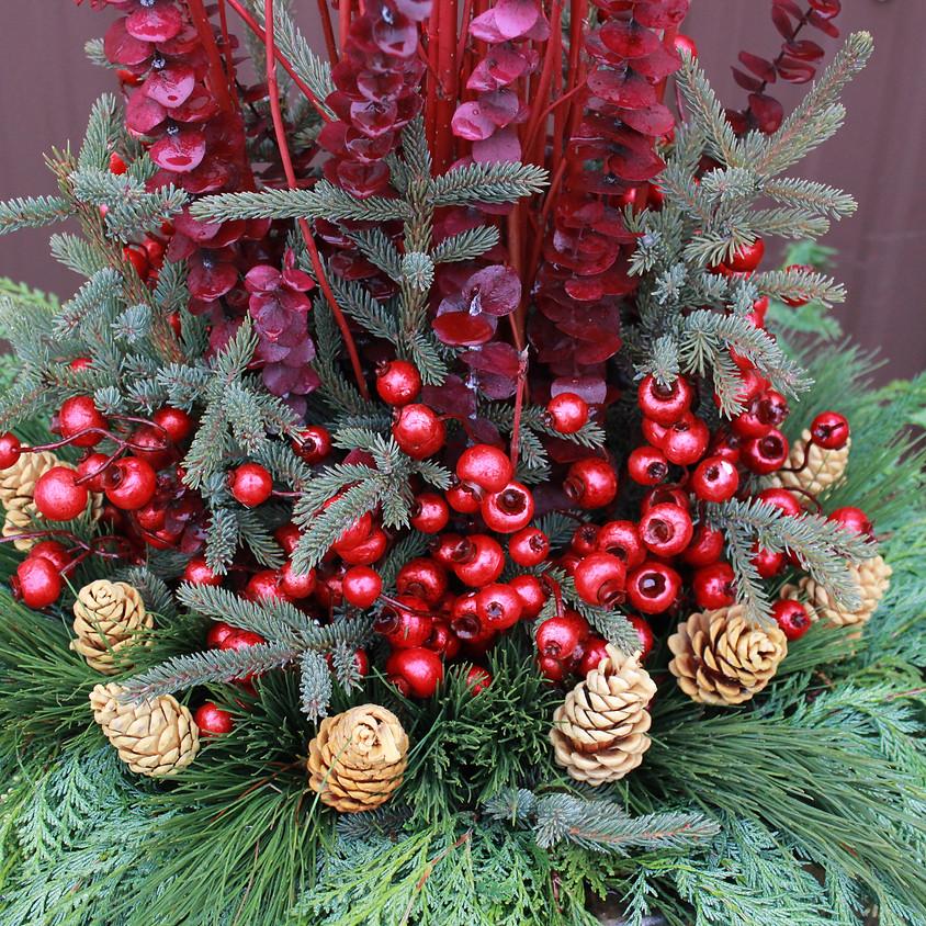 Handmade Holiday Workshop Spruce Tip Pot 6PM
