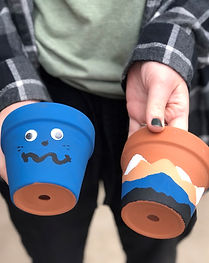 painted pottery, kids craft