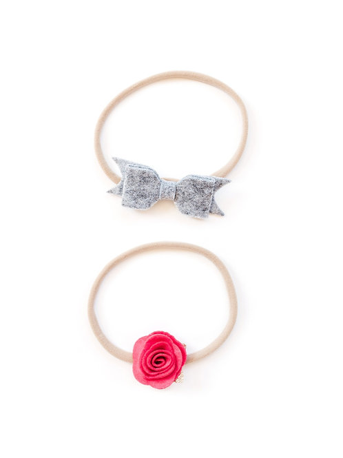 Bow + Rose duo