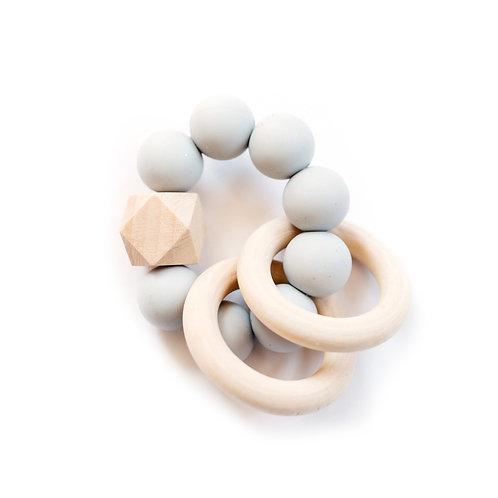 Duo Ring Mini Teether - Gray