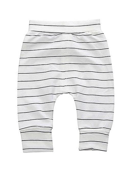 Easy Pant - Black + White Stripe