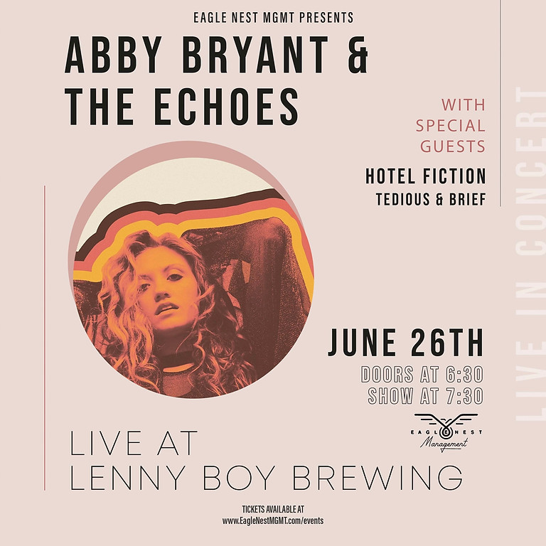 Abby Bryant & The Echoes LIVE at Lenny Boy Brewing ft special guests