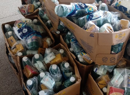 Movimento Bem Maior doa 600 embalagens de cloro