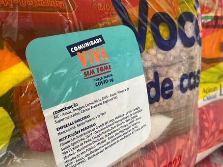 Supermercados BH doam 200 cestas básicas
