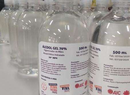 Comunidade Viva sem Fome recebe a doação de 1.000 litros de álcool gel