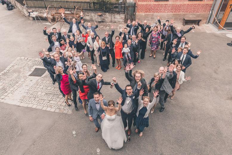 Gruppenfoto als Herz