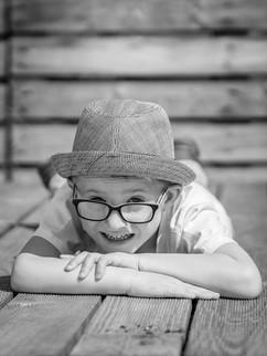 Kinderfotos - Schwarz/Weiß
