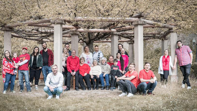 Familienfotos - auch große Gruppen