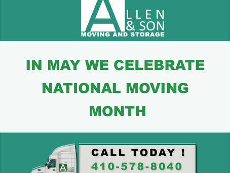 May: National Moving Month