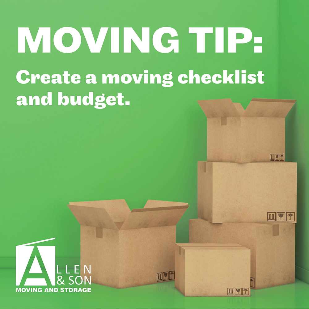 Moving Checklist and Budget