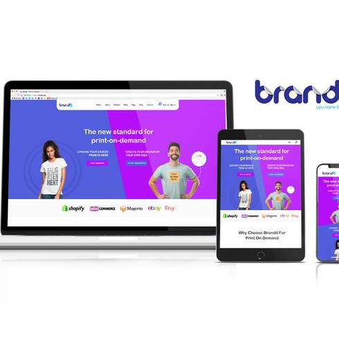 Brand it   Print on demand company   Logo design + Digital branding + UX/UI