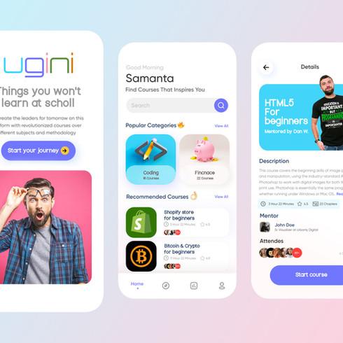 Ugini   Education app for kids & youth   UX/UI