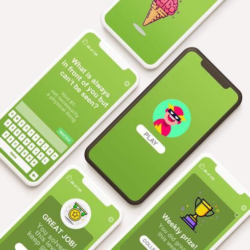 Brain Candy   Riddle quiz's mobile app   UX/UI