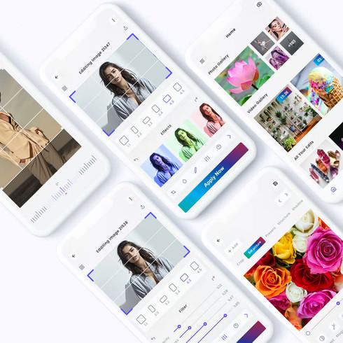 Indivisual   Photo & Video editing mobile app   Logo design + UX/UI