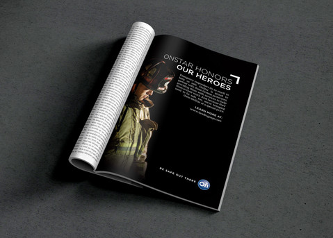 Public Safety Magazine Ad for OnStar