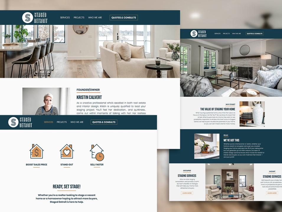 Staged Detroit Website