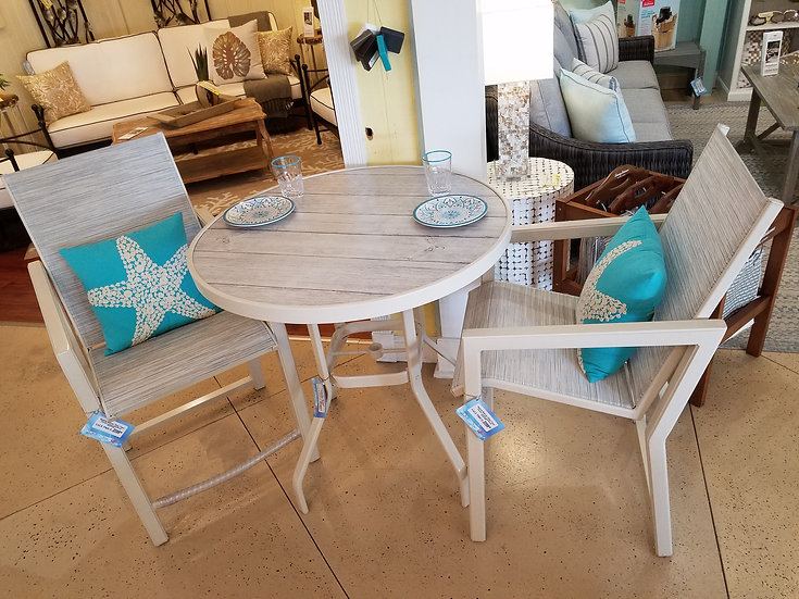 "36"" Outdoor Counter Bistro Set (3pc)"