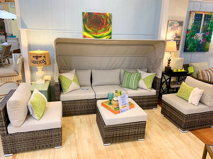 Aurora Sectional/Daybed Outdoor 4pc Set
