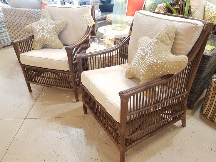 Bora Bora Indoor Rattan Chair Set (2pc)