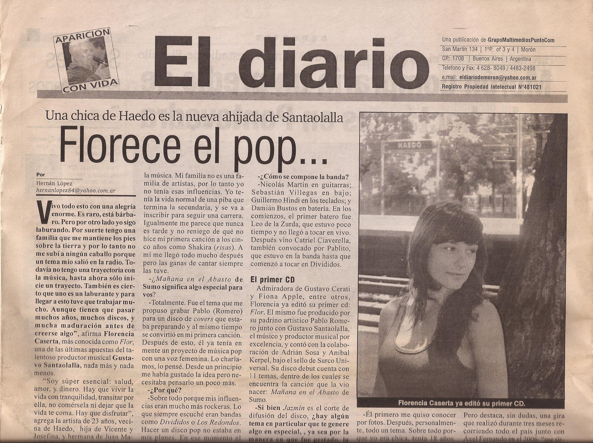 Entrevista. Diario Moron