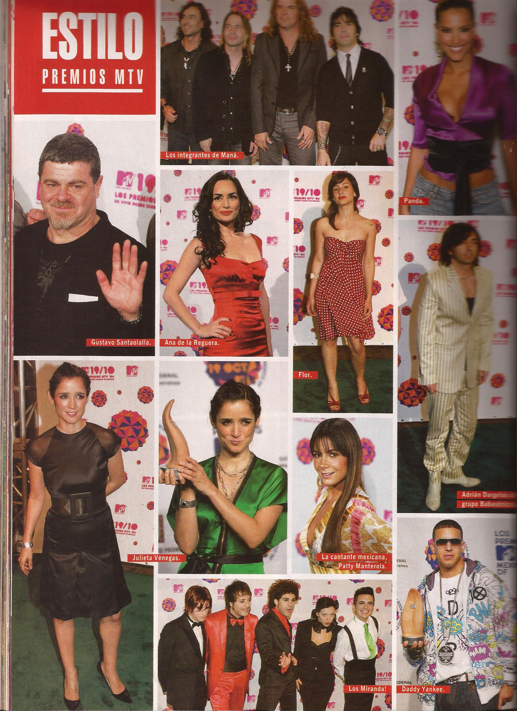 Premios Mtv Latinos. Revista Caras