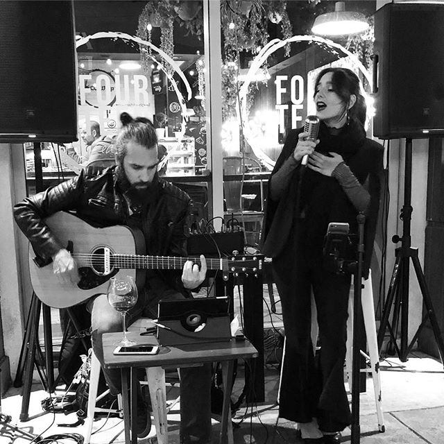About Las Night 🌙 Some Wine & Music at _fourteeneatery 🍷 perfect combination for a very could nigh