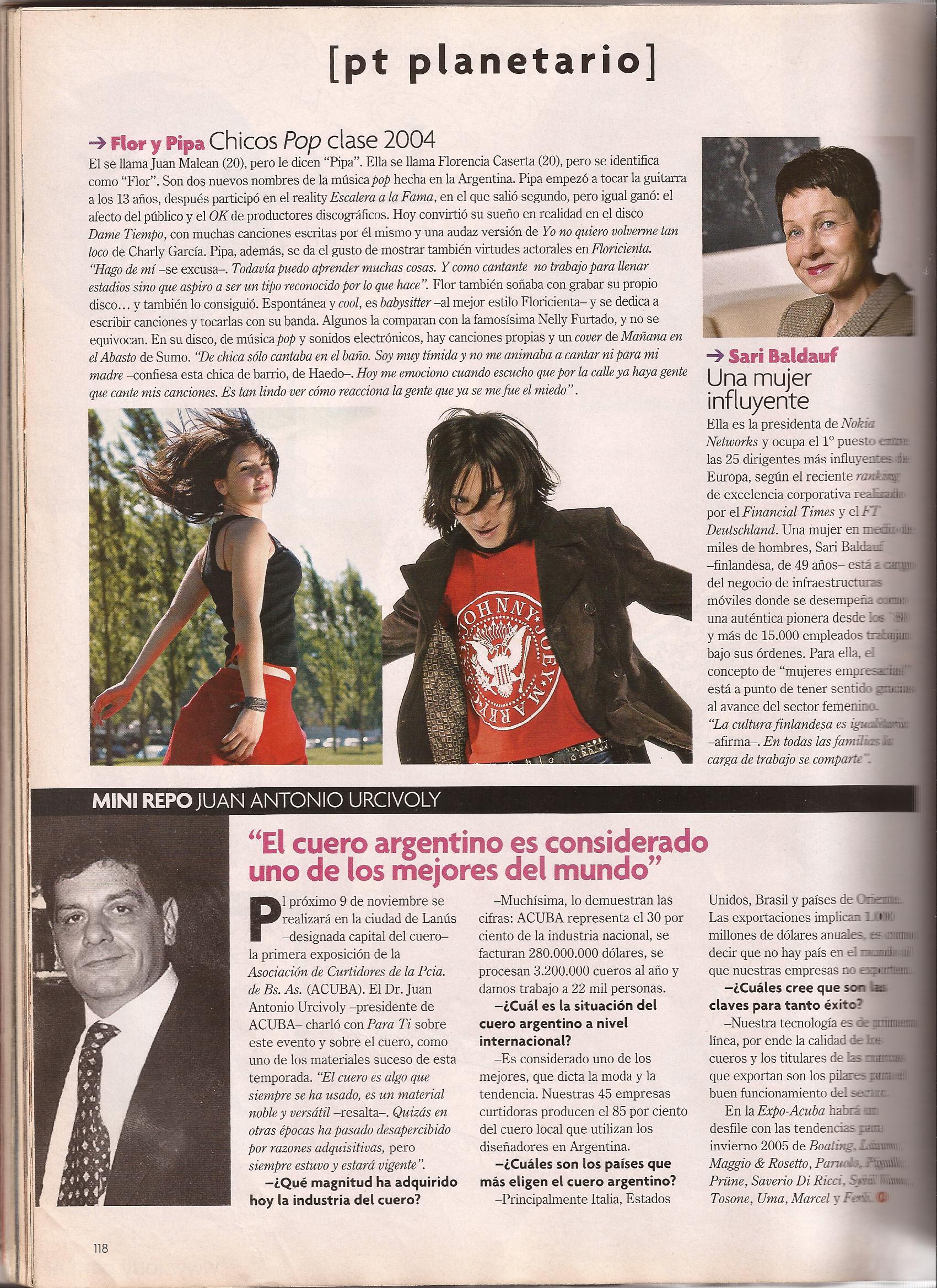 Entrevista. Revista Para Ti