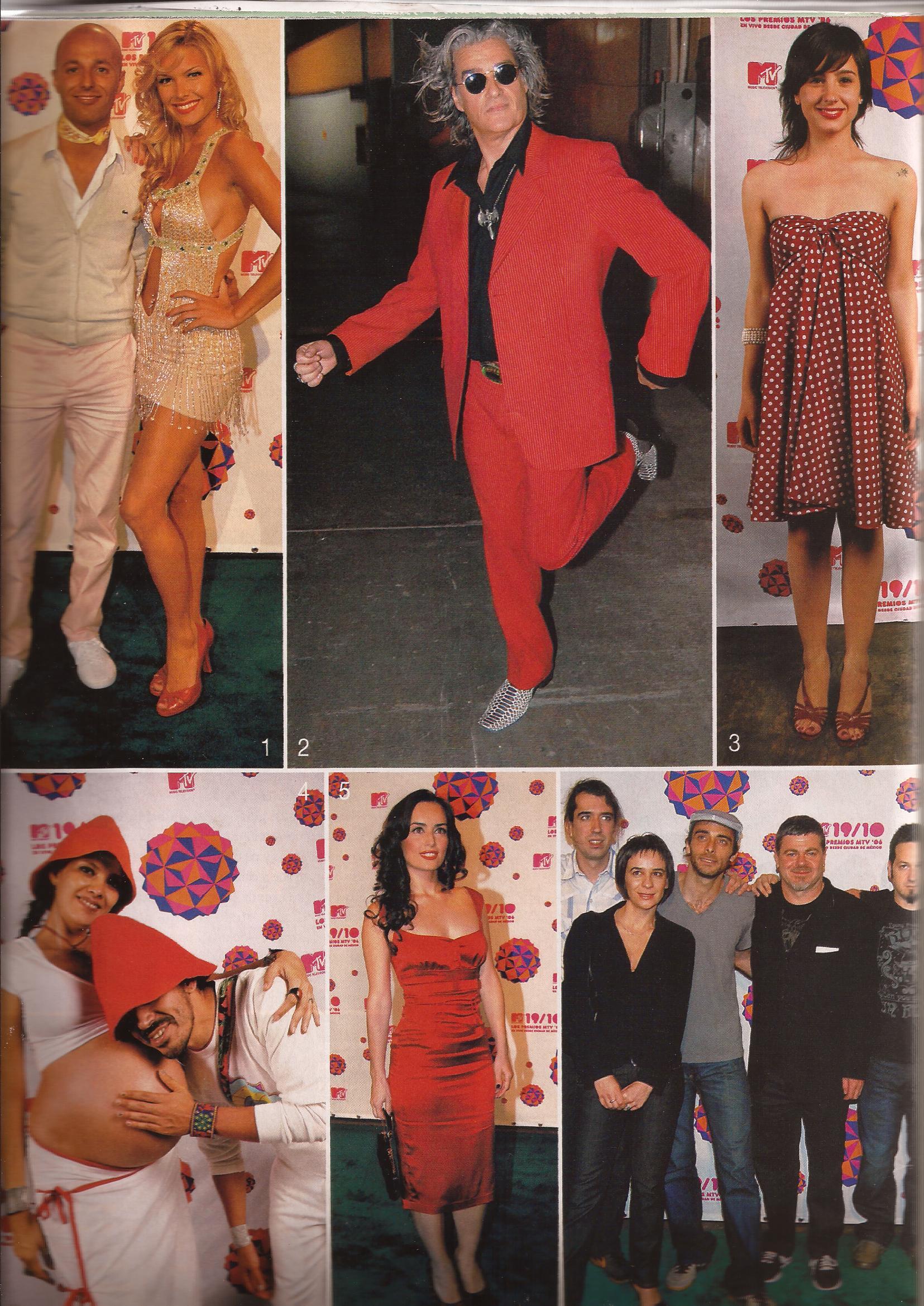 Premios Mtv Latinos. Revista Gente