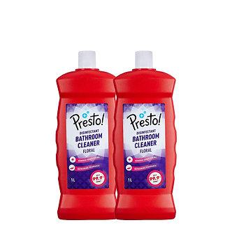 Presto! Bathroom Cleaner - 1 L (Floral, Pack of 2)